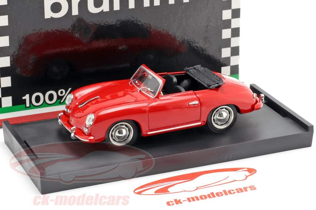 Porsche 356 Cabriolet anno di costruzione 1952 rosso con nero interno 1:43 Brumm