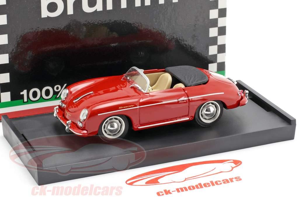 Porsche 356 Speedster ano de construção 1952 vermelho com bege interior 1:43 Brumm