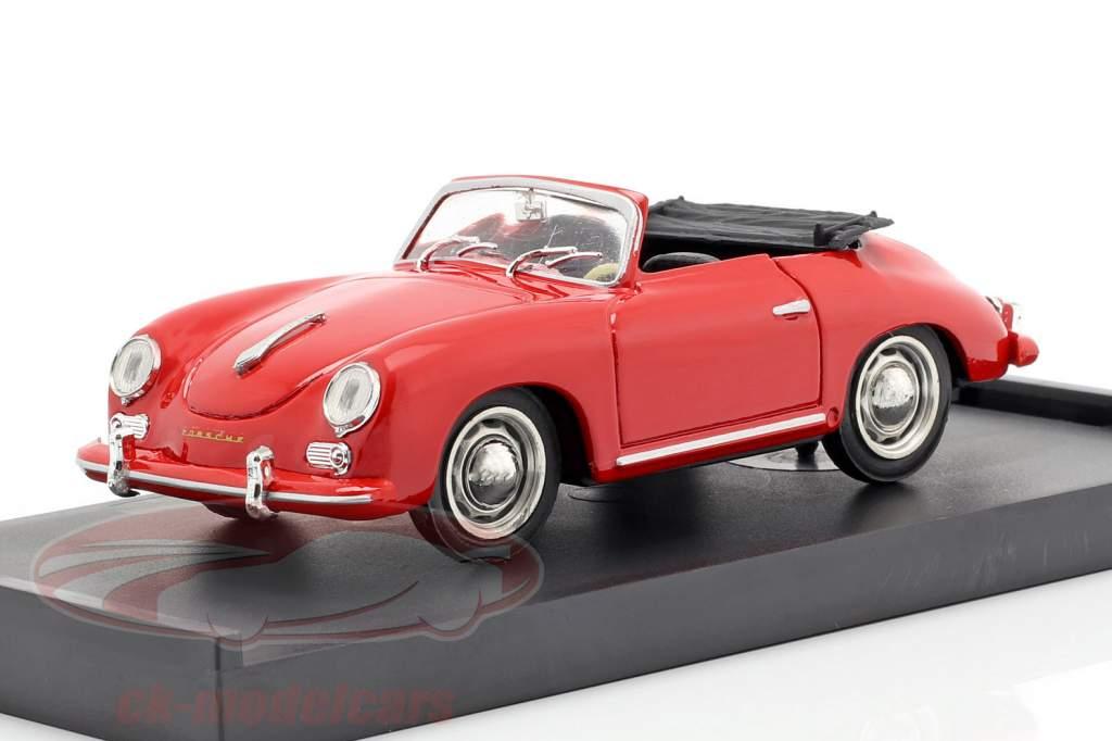 Porsche 356 Cabriolet Baujahr 1952 rot mit schwarzen Innenraum 1:43 Brumm