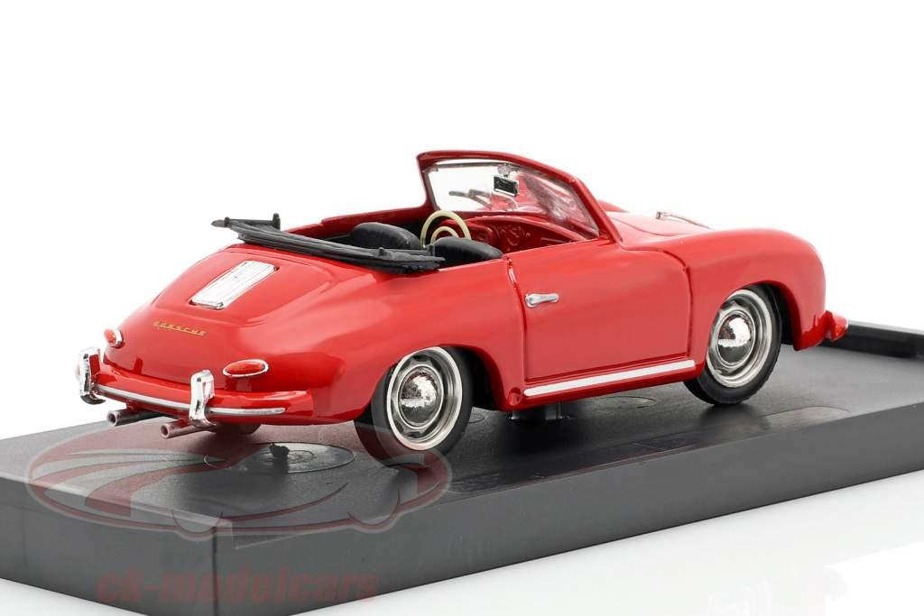 Porsche 356 Cabriolet année de construction 1952 rouge avec noir intérieur 1:43 Brumm