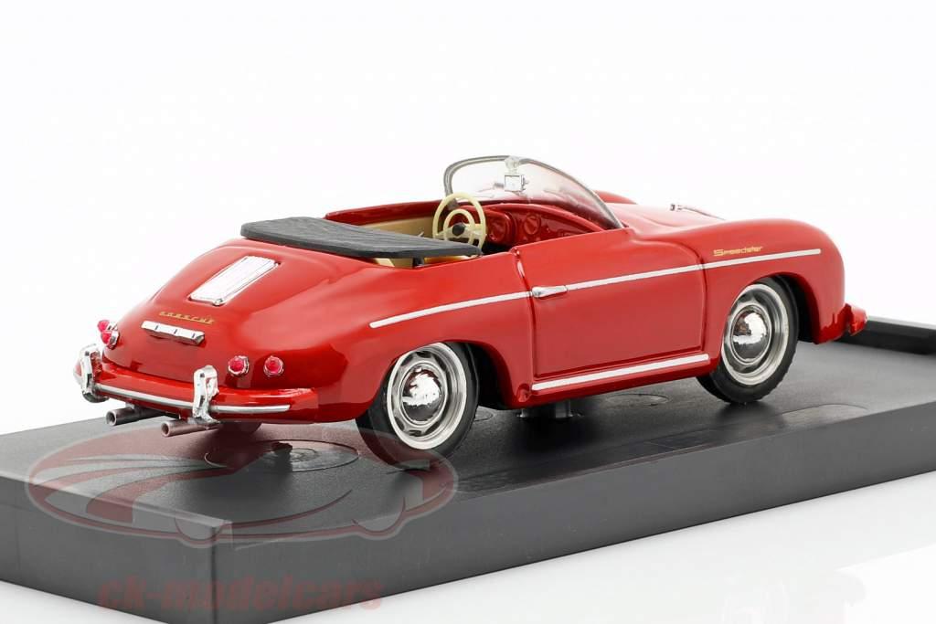 Porsche 356 Speedster Opførselsår 1952 rød med beige interiør 1:43 Brumm