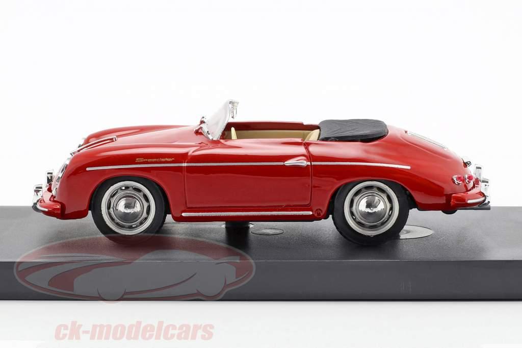 Porsche 356 Speedster Baujahr 1952 rot mit beigen Innenraum 1:43 Brumm
