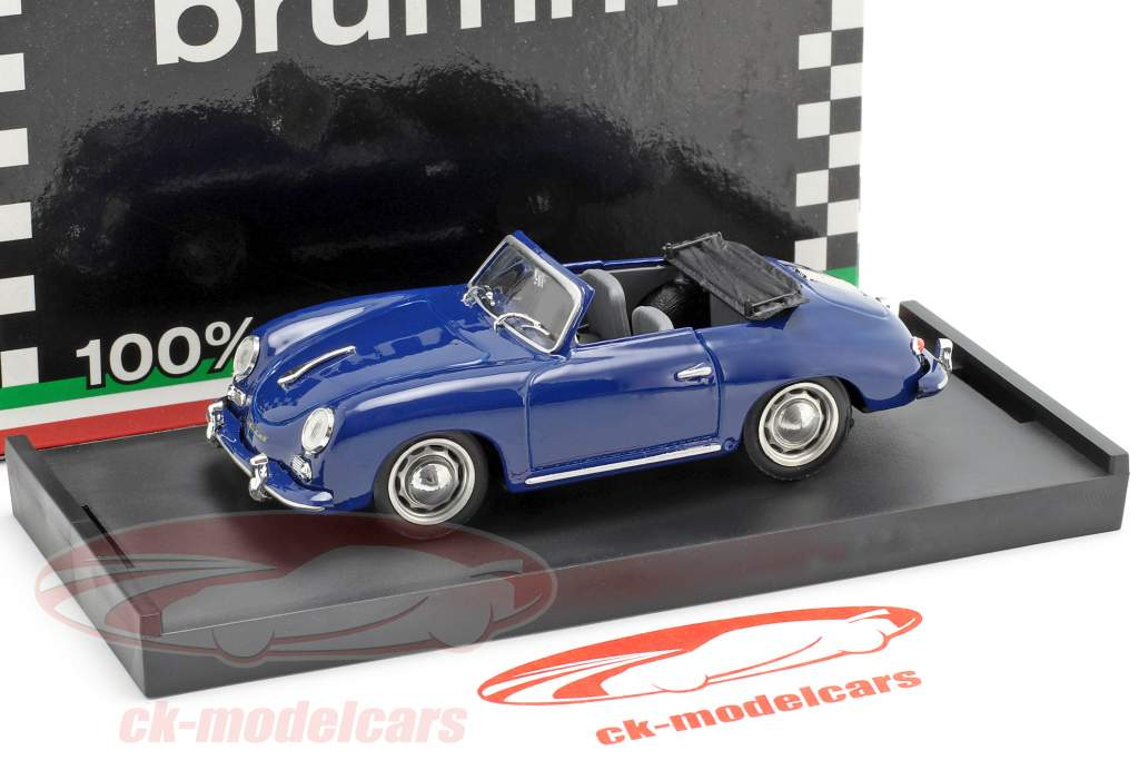 Porsche 356 Cabriolet ano de construção 1952 azul 1:43 Brumm