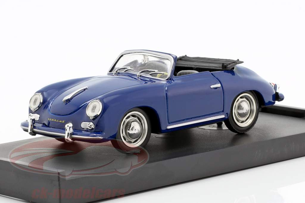 Porsche 356 Cabriolet Baujahr 1952 blau 1:43 Brumm