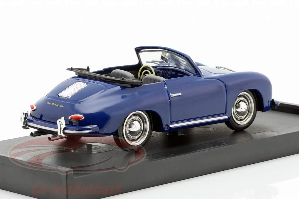 Porsche 356 Cabriolet año de construcción 1952 azul 1:43 Brumm