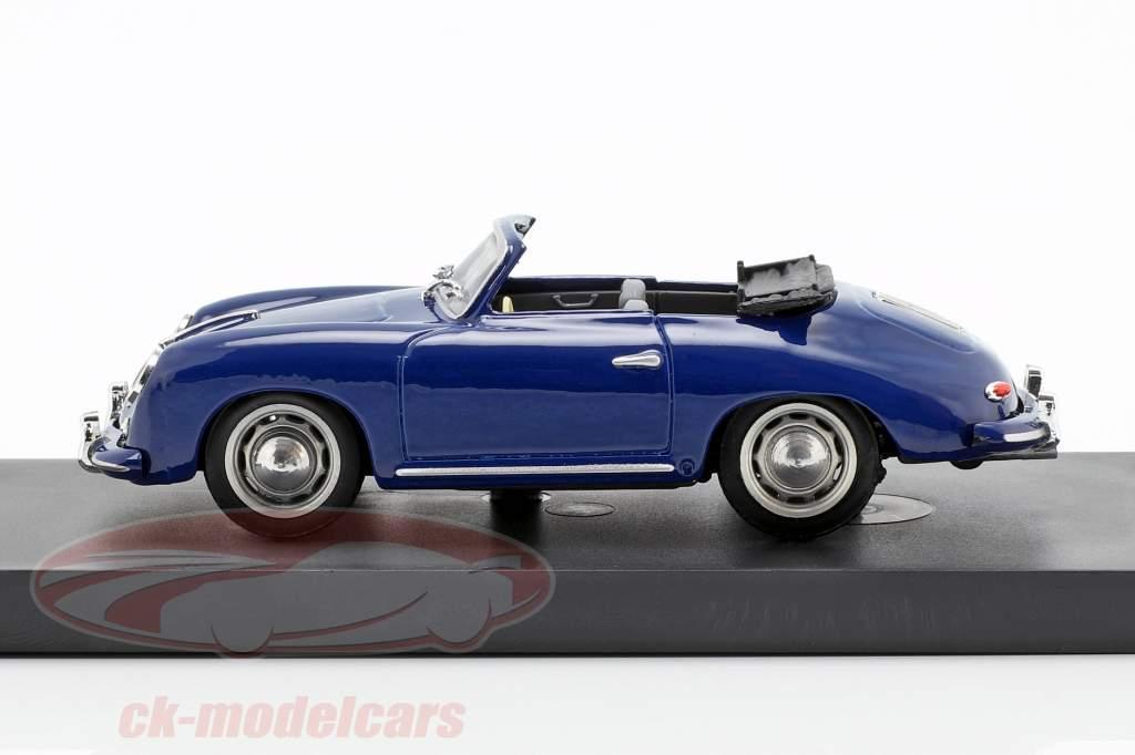 Porsche 356 Cabriolet year 1952 blue 1:43 Brumm