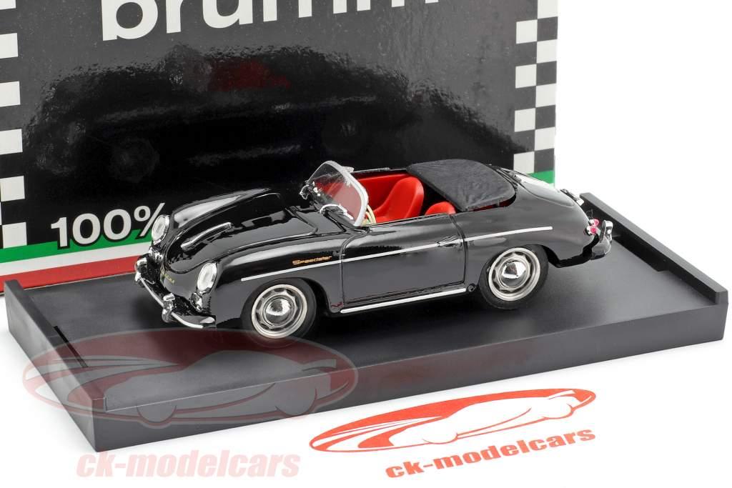 Porsche 356 Speedster año de construcción 1952 negro 1:43 Brumm