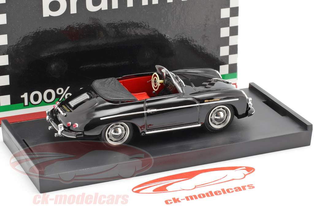 Porsche 356 Speedster Bouwjaar 1952 zwart 1:43 Brumm