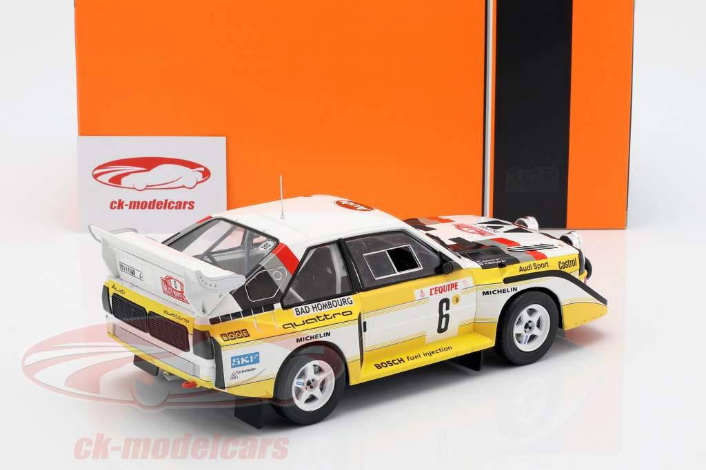 Audi Sport Quattro S1 E2 #6 3e Rallye Monte Carlo 1986 Mikkola, Hertz 1:18 Ixo