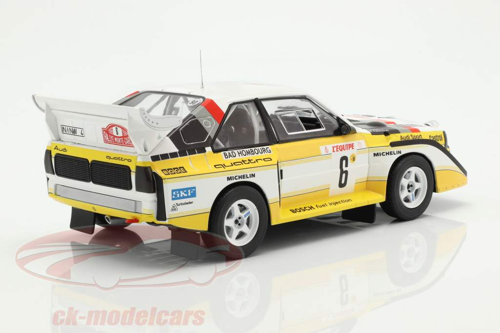Audi Sport Quattro S1 E2 #6 tercero Rallye Monte Carlo 1986 Mikkola, Hertz 1:18 Ixo