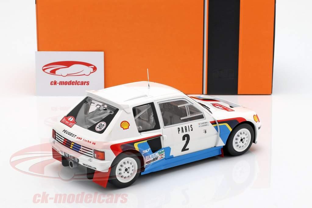 Peugeot 205 T16 #2 Rallye Monte Carlo 1985 Vatanen, Harryman 1:18 Ixo