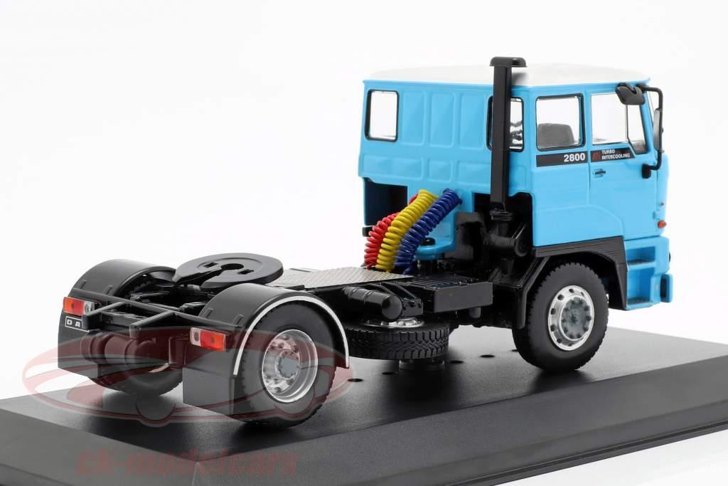 DAF 2800 Bouwjaar 1975 blauw / zwart 1:43 Ixo