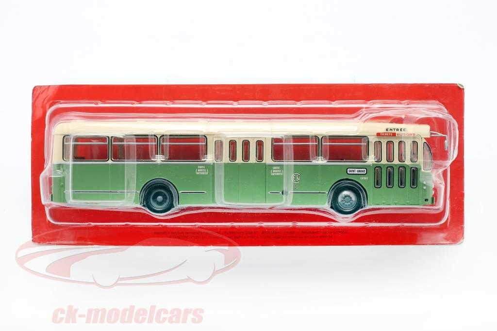 Brossel BL55 Valenciennes bus France année de construction 1966 1:43 olive / crème Altaya