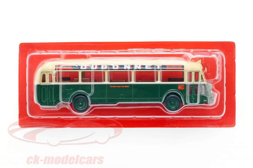 Chausson AP-47 RATP bus France année de construction 1947 vert foncé / crème 1:43 Altaya