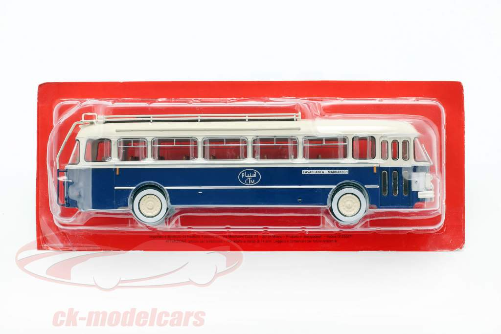 Saviem Chausson SC1 bus Frankrig Opførselsår 1960 blå / creme 1:43 Altaya