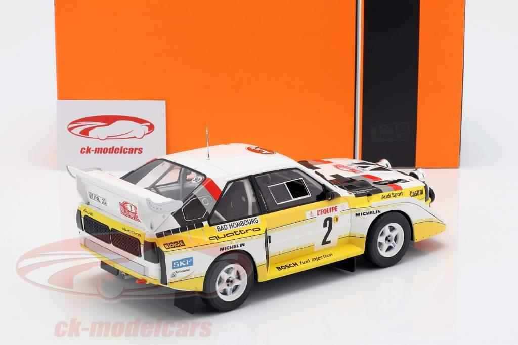 Audi Sport Quattro S1 E2 #2 4ª Rallye Monte Carlo 1986 Röhrl, Geistdörfer 1:18 Ixo
