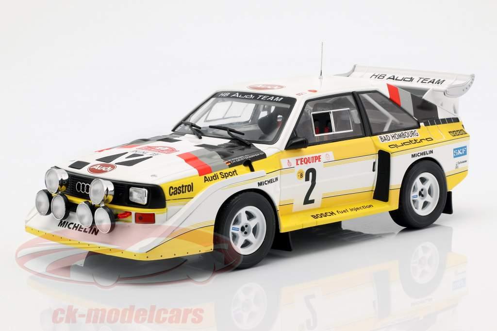 Audi Sport Quattro S1 E2 #2 4e Rallye Monte Carlo 1986 Röhrl, Geistdörfer 1:18 Ixo
