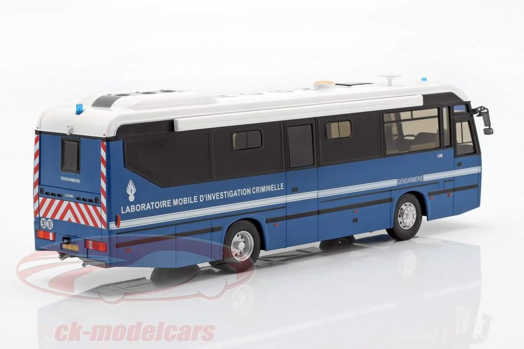 Lohr L96 IRCGN ônibus da polícia França ano de construção 1996 azul 1:43 Altaya