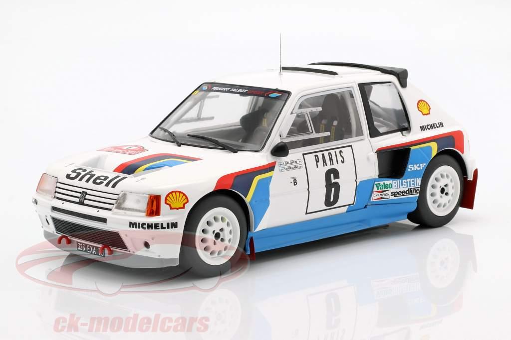 Peugeot 205 T16 #6 Rallye Monte Carlo 1985 Salonen, Harjanen 1:18 Ixo