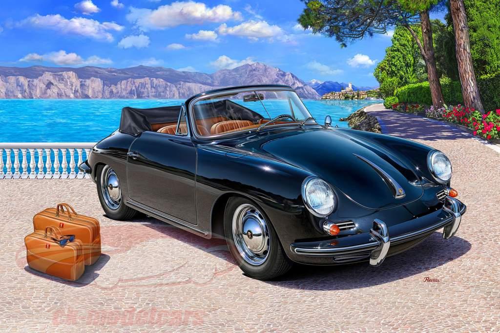 Porsche 356 C Cabriolet kit sort 1:16 Revell