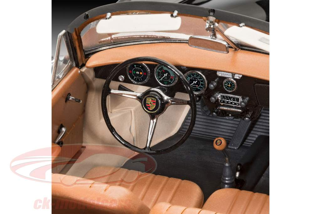 Porsche 356 C Cabriolet Bausatz schwarz 1:16 Revell