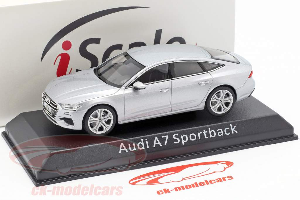 Audi A7 Sportback sølv 1:43 iScale