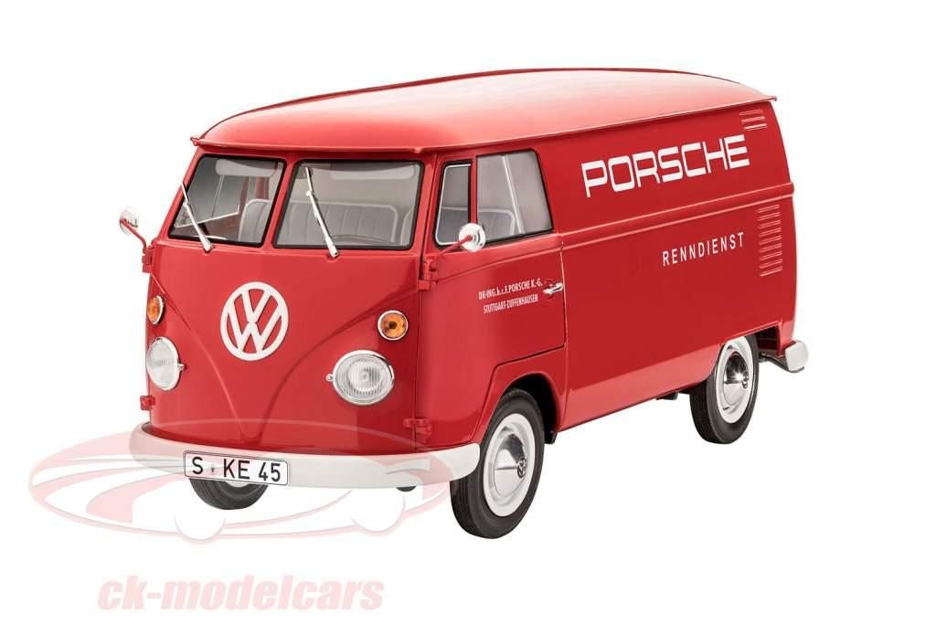 Volkswagen VW T1 Kastenwagen Porsche racing service kit rosso 1:16 Revell