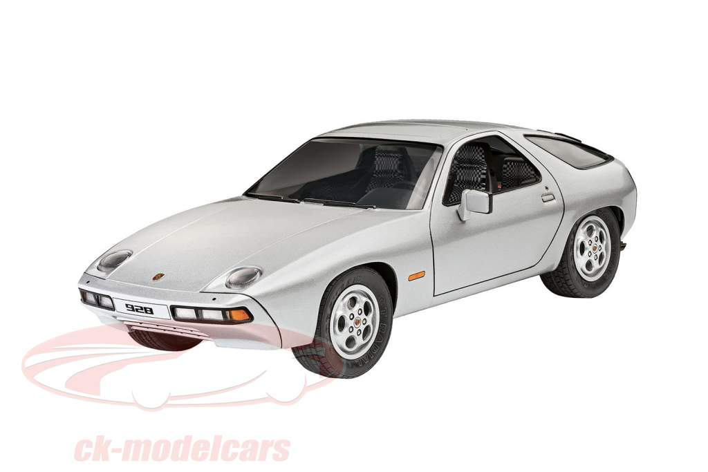 Porsche 928 kit sølv 1:16 Revell