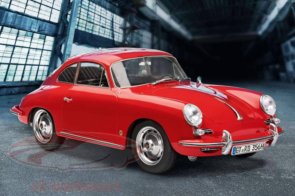 Porsche 356 B Coupe kit red 1:16 Revell