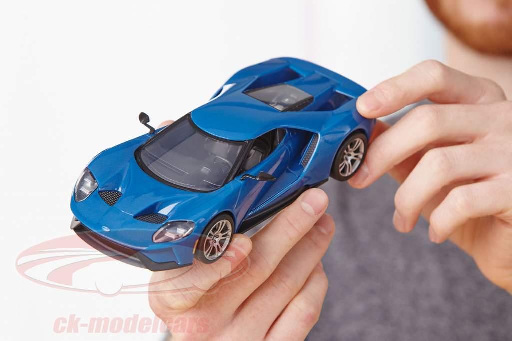 Ford GT Bouwjaar 2017 uitrusting blauw 1:24 Revell