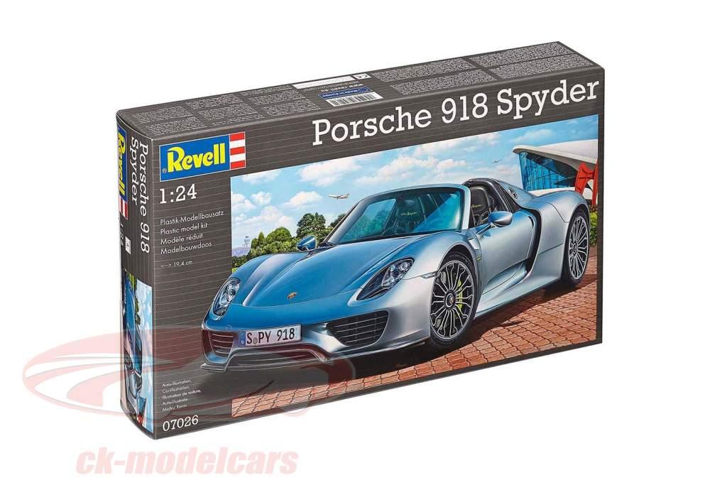 Porsche 918 Spyder equipo plata 1:24 Revell