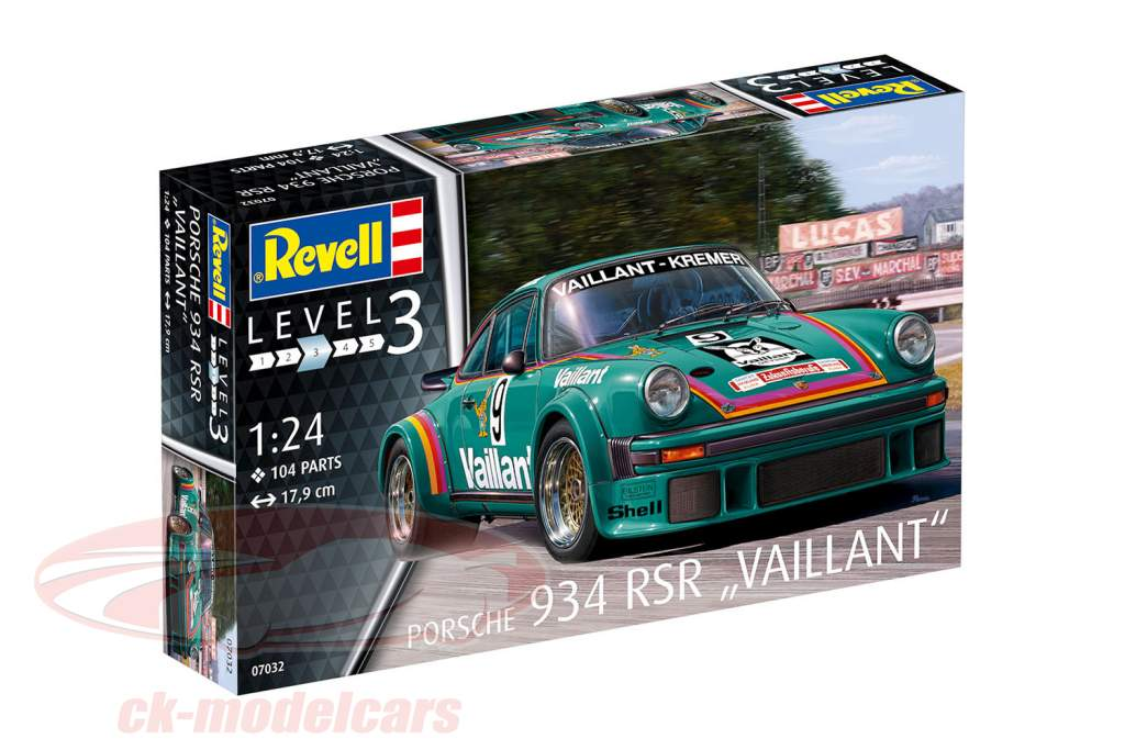 Porsche 934 RSR Vaillant #9 uitrusting 1:24 Revell