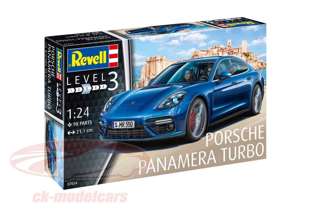 Porsche Panamera Turbo kit blue 1:24 Revell