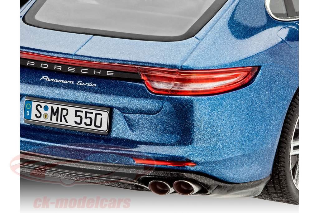 Porsche Panamera Turbo trousse bleu 1:24 Revell