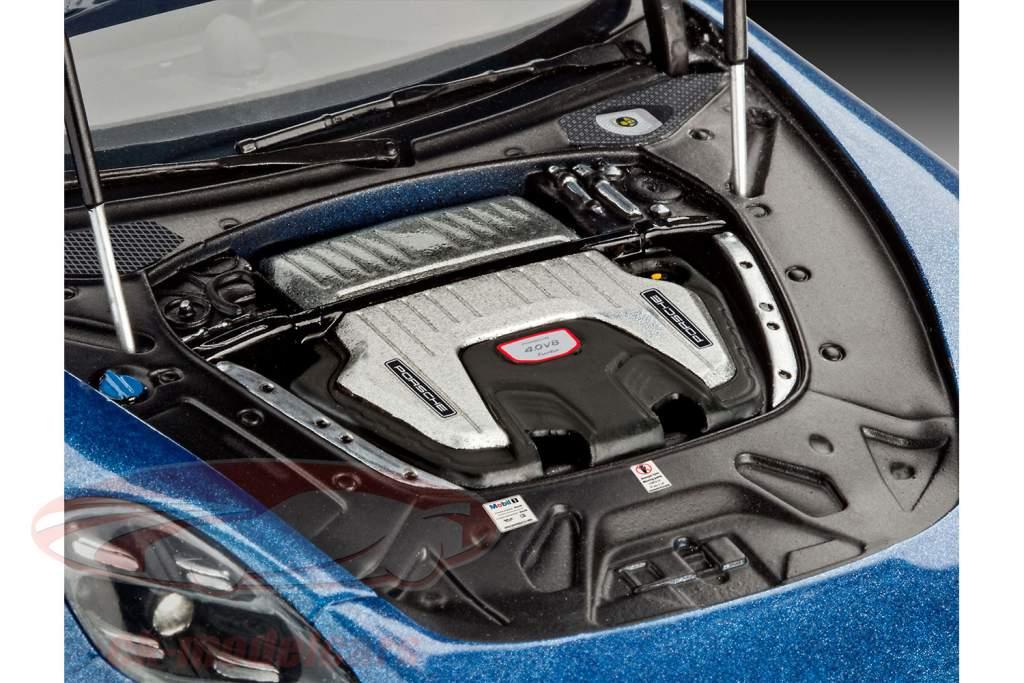 Porsche Panamera Turbo kit blu 1:24 Revell