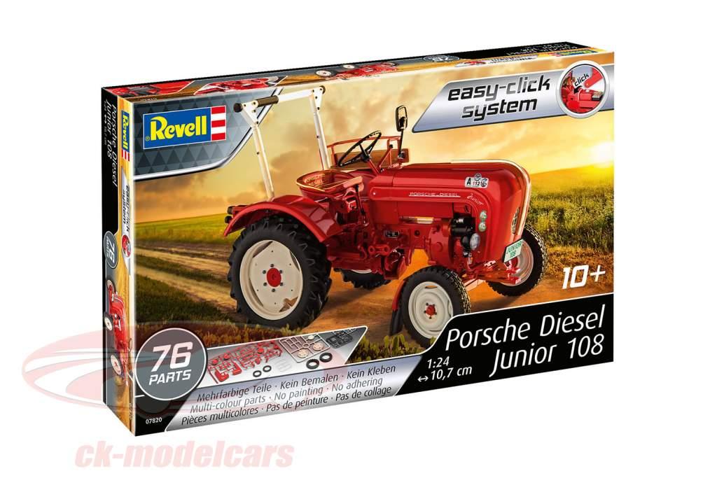 Porsche Diesel Junior 108 estojo vermelho 1:24 Revell