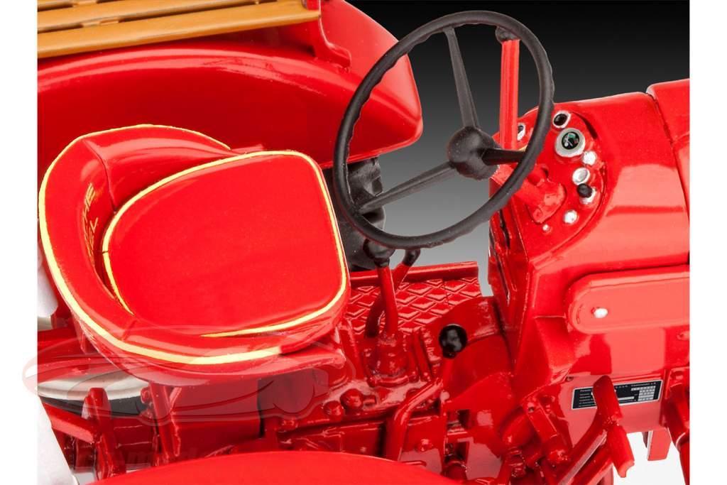 Porsche Diesel Junior 108 kit rød 1:24 Revell
