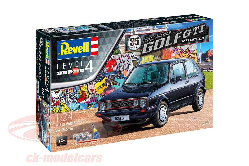 35 Years of Volkswwagen VW Golf GTI Pirelli Bausatz 1:24 Revell