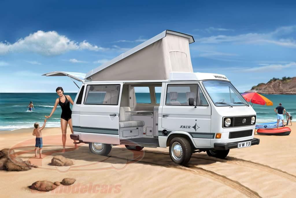 Volkswagen VW T3 Camper uitrusting wit 1:25 Revell