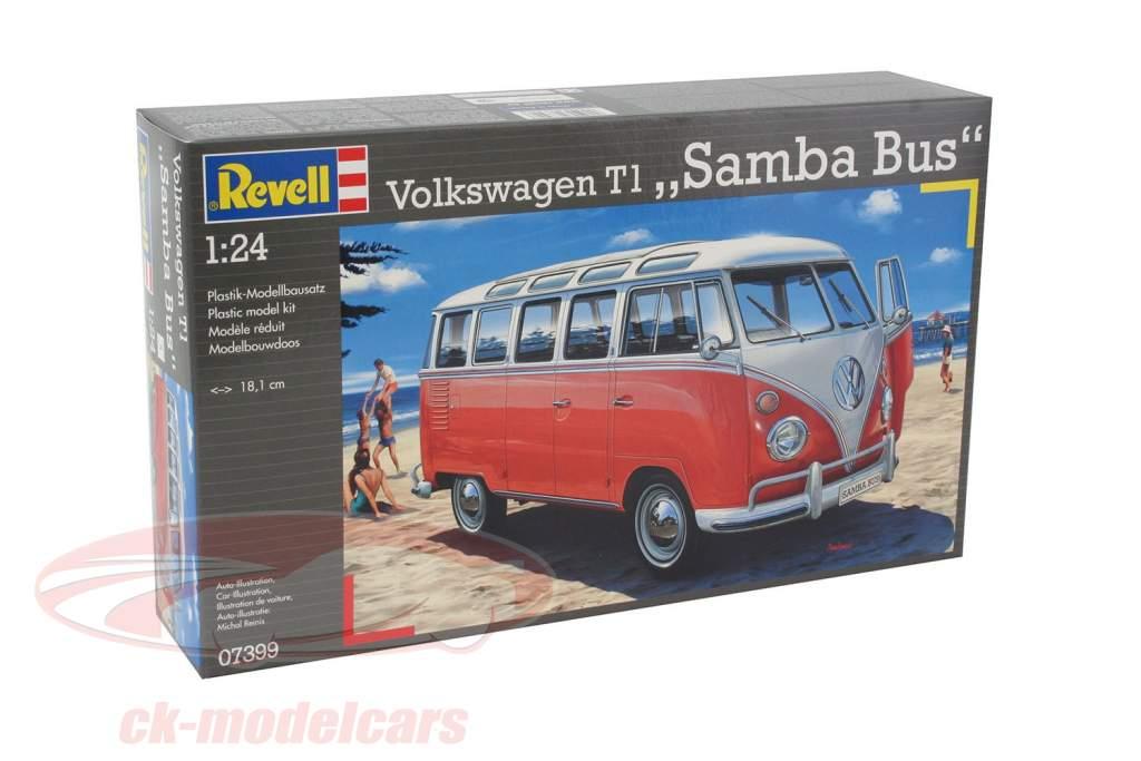 Volkswagen VW T1 Samba Bus equipo 1:24 Revell