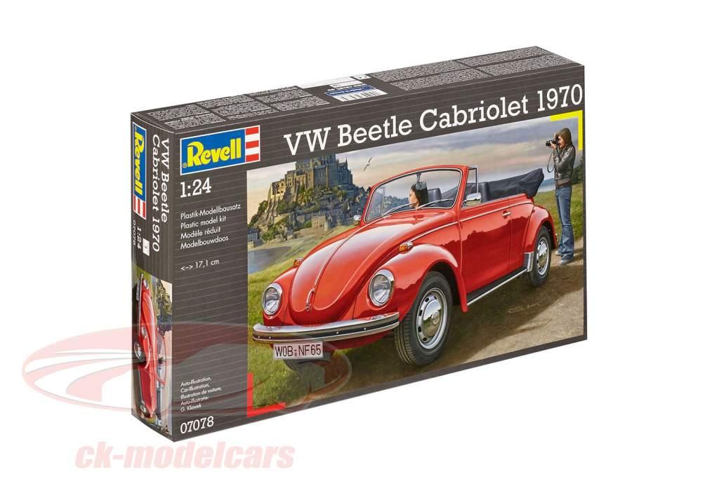 Volkswagen VW Käfer Cabriolet Opførselsår 1970 kit rød 1:24 Revell