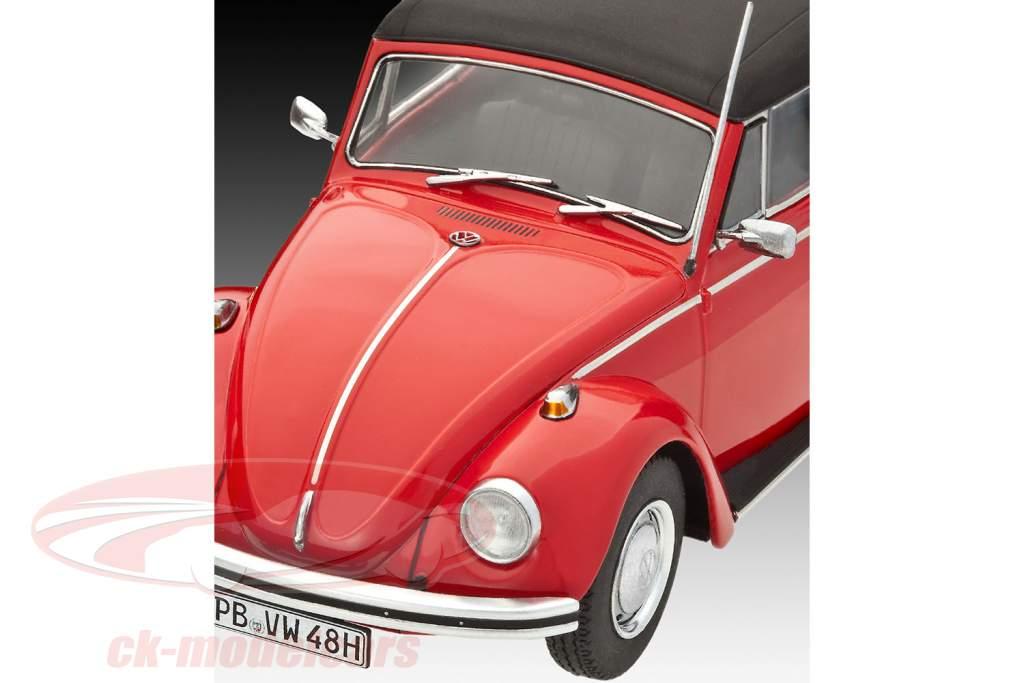 Volkswagen VW Käfer Cabriolet Bouwjaar 1970 uitrusting rood 1:24 Revell