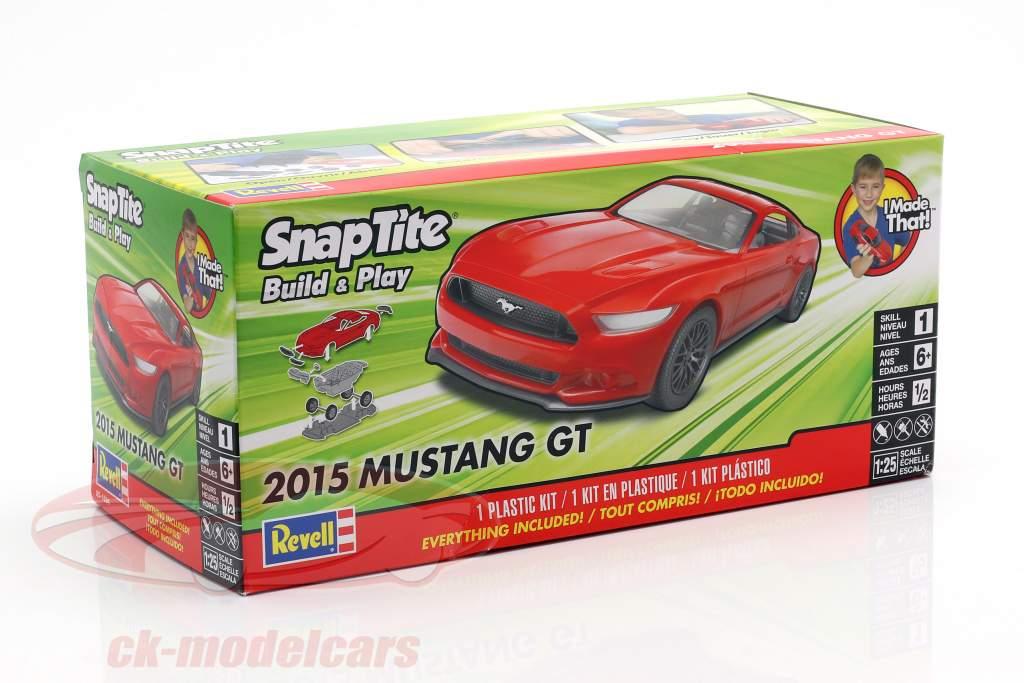 Ford Mustang GT año de construcción 2015 equipo rojo 1:25 Revell