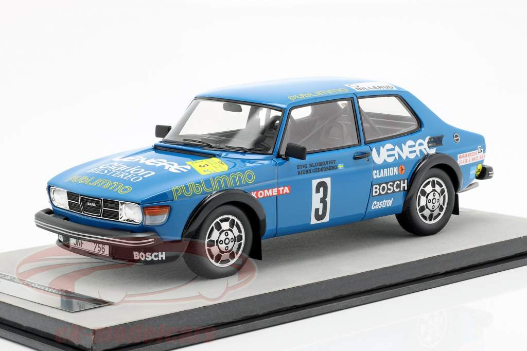 Saab 99 Turbo #3 Rally Sweden 1981 Blomqvist, Cederberg 1:18 Tecnomodel