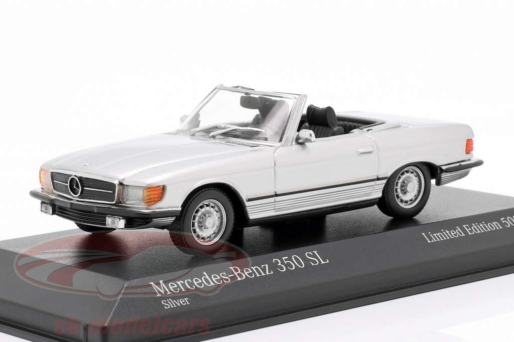 Mercedes-Benz 350 SL anno di costruzione 1974 argento metallico 1:43 Minichamps