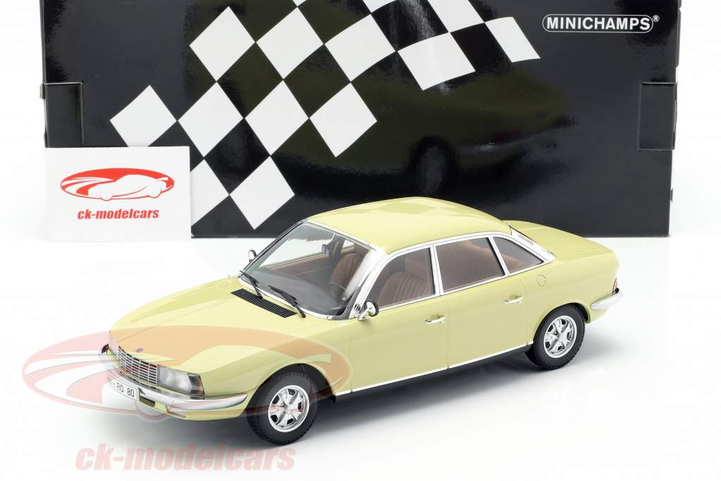 NSU Ro 80 Jaar 1972 geel 1:18 Minichamps