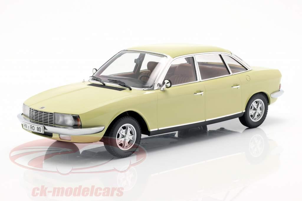 NSU Ro 80 Ano 1972 amarelo 1:18 Minichamps