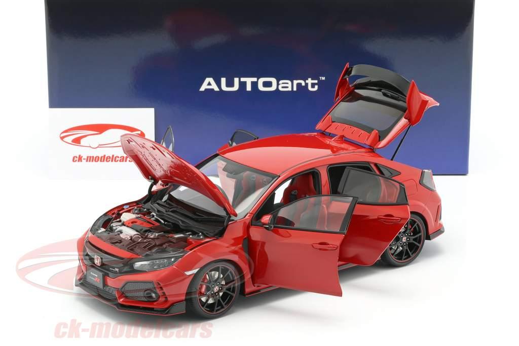 Honda Civic Type R (FK8) ano de construção 2017 vermelho 1:18 AUTOart