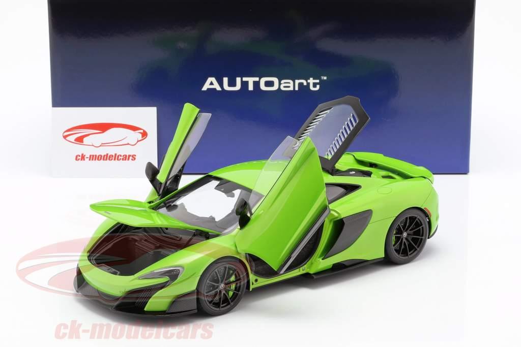 McLaren 675LT anno di costruzione 2016 verde 1:18 AUTOart