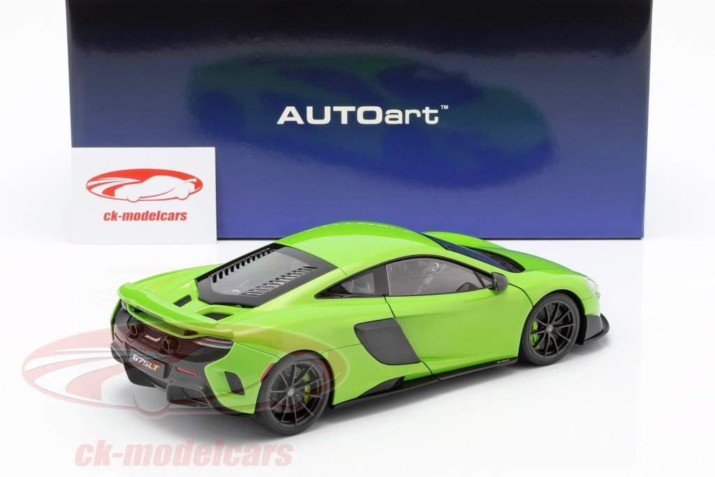 McLaren 675LT Opførselsår 2016 grøn 1:18 AUTOart
